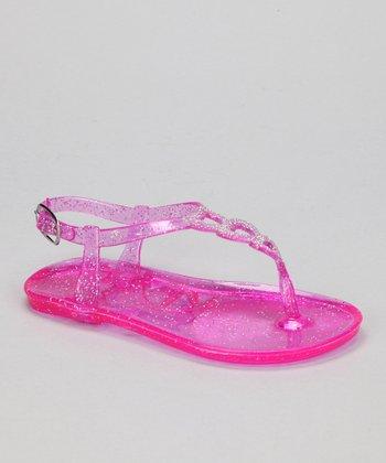 Fuchsia Glitter Amore Jellie Sandal