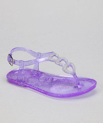 Purple Glitter Amore Jellie Sandal