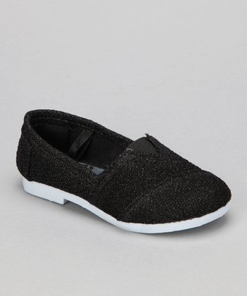 Black Glitter Timmy Slip-On Shoe