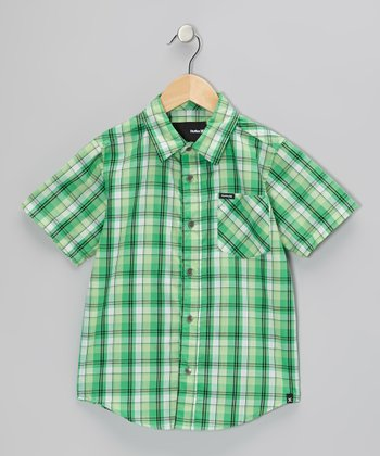 Electric Green Acoustic Woven Shirt - Toddler