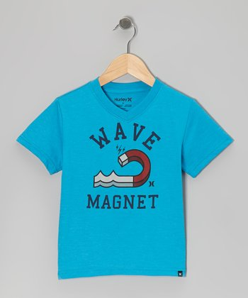 Baby Cyan Heather Wave Magnet Tee - Infant