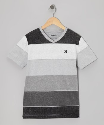 Black Faded Block Tee - Infant