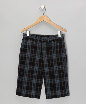 Black Costa Tartan Shorts - Toddler & Boys
