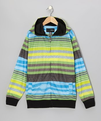Neon Green Zip-Up Hoodie - Toddler & Boys