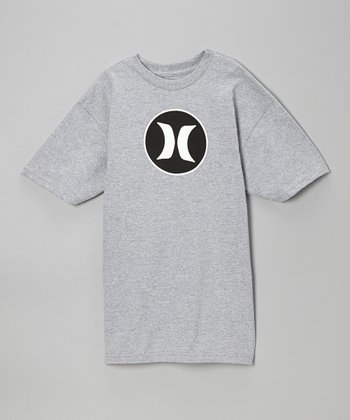 Heather Gray Block Party Tee - Boys