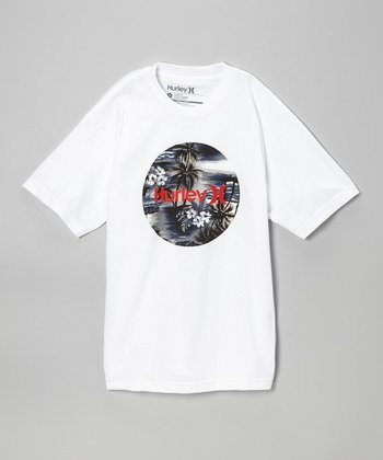 White 'Hurley' Tee - Boys