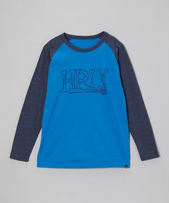 Cobalt Blue Raglan Tee - Toddler