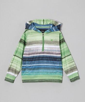 Green Stripe Pullover - Toddler & Boys