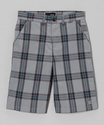 Gray Plaid Tartan Short - Toddler & Boys