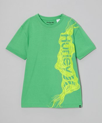 Electric Green Constrictor Tee - Boys