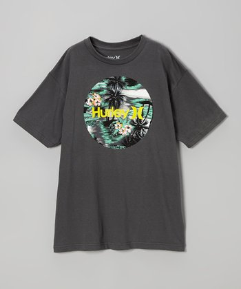 Gray 'Hurley' Tee - Boys