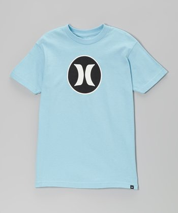 Light Blue Block Party Tee - Boys