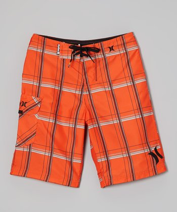 Orange Puerto Rico Boardshorts - Boys