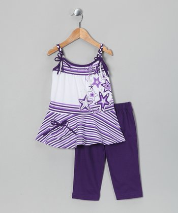 Purple Bow Tank & Capri Pants - Toddler & Girls