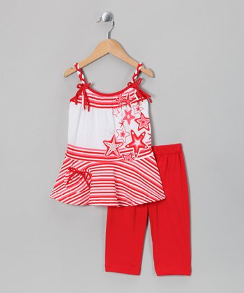 Red Bow Tank & Capri Pants - Toddler & Girls