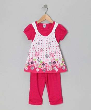 Raspberry Garden Layered Tunic & Leggings - Toddler & Girls