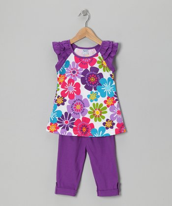 Purple Daisy Tunic & Leggings - Infant, Toddler & Girls