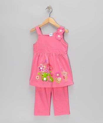 Pink Frog Garden Tunic & Capri Pants - Toddler & Girls