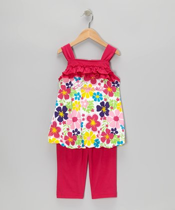 Fuchsia 'Princess' Tunic & Capri Pants - Infant, Toddler & Girls