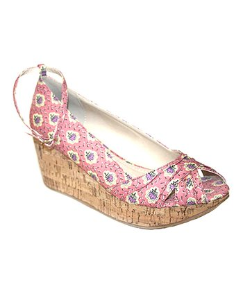 Pink Lolly Platform Wedge