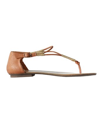 Tan Seattle T-Strap Sandal