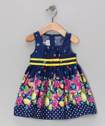 Navy Butterfly Sundress - Toddler