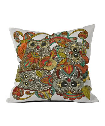 Four Owls Throw Pillow