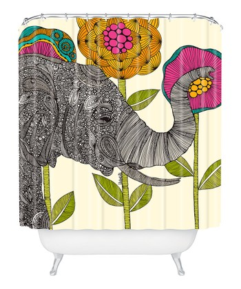 Intricate Elephant Shower Curtain