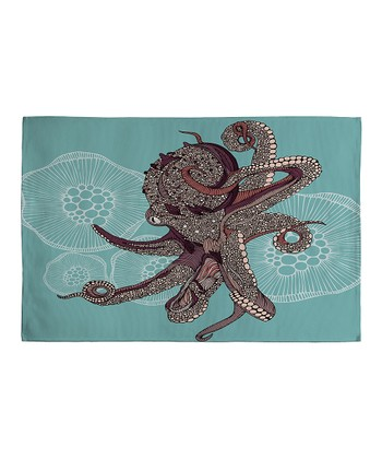 Octopus Bloom Woven Rug