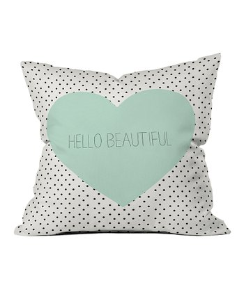 'Hello Beautiful' Throw Pillow