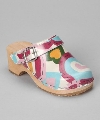 Pink & Green Whimsy Clog - Kids