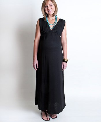 Black Jill Maternity Maxi Dress