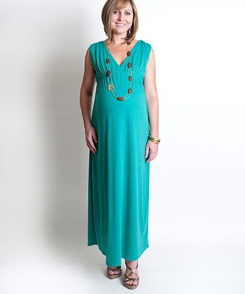 Seafoam Jill Maternity Maxi Dress