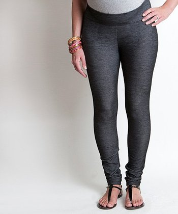 Black Denim Cindy Maternity Leggings