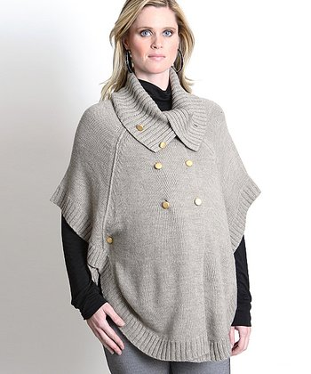 Stone Millie Maternity Sweater Cape