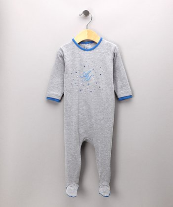 Gray & Blue Footie
