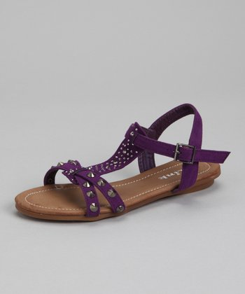 Link Purple Amalie Studded Sandal