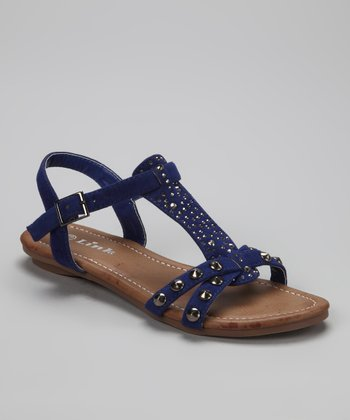 Royal Blue Studded Amalie Sandal
