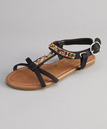 Black Calie Strappy Sandal