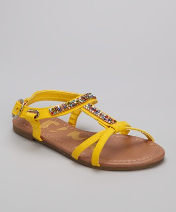 Yellow Gemstone Calie Strappy Sandal