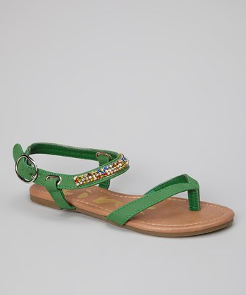 Green Gemstone Calie Sandal