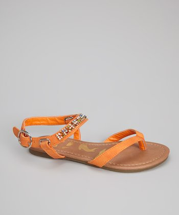 Orange Gemstone Calie Sandal
