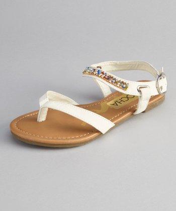 White Calie Sandal