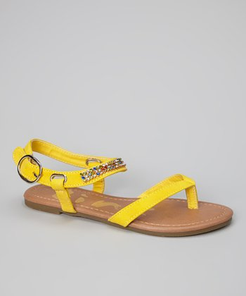 Yellow Gemstone Calie Sandal