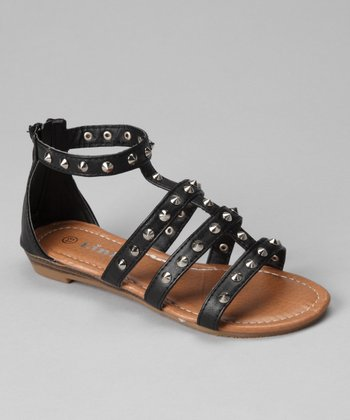 Black Spike Chestnut Sandal