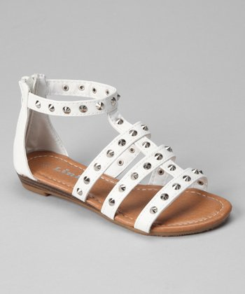 White Spike Chestnut Sandal