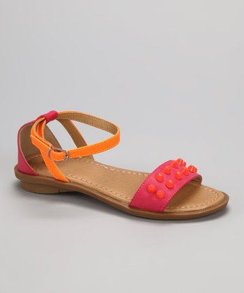 Fuchsia & Orange Jaimie-1 Sandal