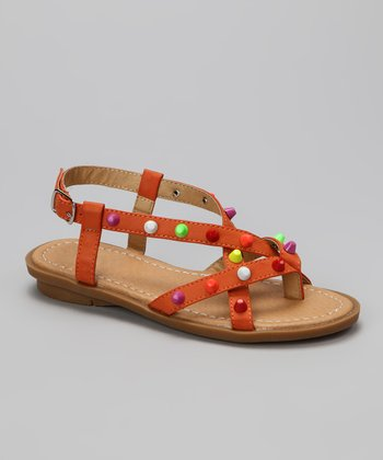 Orange Jaime Sandal