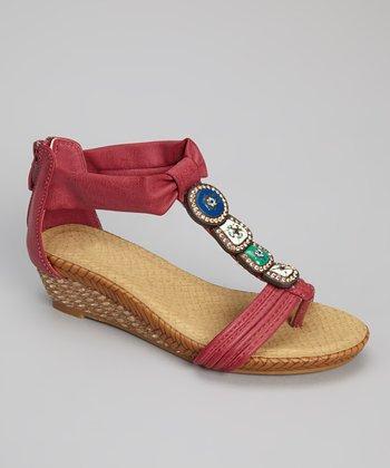Fuchsia JoJo Gladiator Wedge Sandal