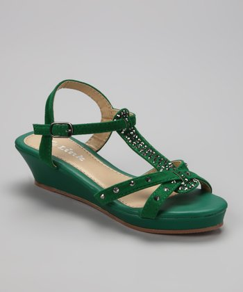 Green Junita Sandal